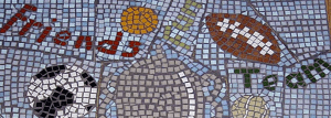 Mosaic created in Adelphi Mill Bollington Macclesfield office space to let