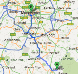Office Space Cheshire locality to manchester