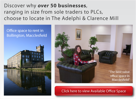 Offices to let in Macclesfield from Adelphi Mill